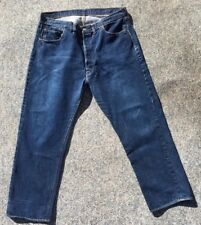 Vintage Levi Strauss Co Levi's Big E Dark Blue 501 Selvedge Edge Jeans Mens 40