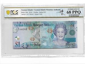 Cayman Islands/Pick#38c 2010 1 Dollar PCGS 68 PPQ