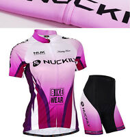 Women's Cycling Bike Short Sleeve Clothing Bicycle Sportswear Suit Jersey Shorts