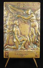 Médaille allégory Victory Fondation William Carnegie 1926 Dejean à Kreiss Medal