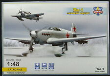Modelsvit Models 1/48 YAKOVLEV Yak-1 WINTER VERSION Soviet Fighter on Skis
