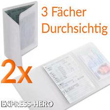 Fahrzeugschein Hülle KFZ Schein Schutzhülle Mappe Ausweis Zulassung Kartenhülle