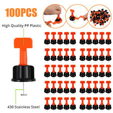 100 Flat Ceramic Floor Wall Construction Tools Reusable Tile Leveling System Kit