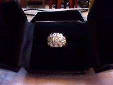 Antique~Art~Deco~Platinum~N~Brillant~Diamonds~Pinky~Ring~Size 3 1/2 W~Gift Box