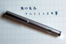 MUJI Stylish Aluminum Pocket Fountain Pen Made in Japan Black Ink