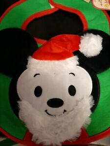 Hallmark Itty Bittys Disney Santa Mickey Mouse Christmas bib NEW