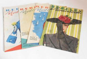 4 x Zeitschrift Berlin Modenblatt Heft ab 1947 Handarbeit Mode !