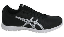 Asics AYAMi Stream Lace Up Black Grey Synthetic Womens Trainers S396Y 9093 M9