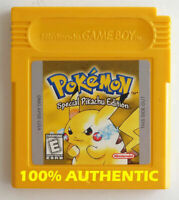 ORIGINAL Pokemon Yellow Version New Battery Can Save AUTHENTIC Game Boy Color