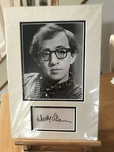 Woody Allen Signed Mounted Photo Display