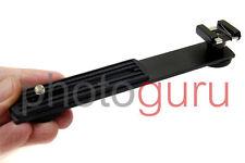 STAFFA bracket supporto slitta regolabile universale per flash esterno HOT-SHOE