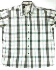 Wrangler Mens Tan/Bro/Green Button Down Western Plaid Dress Shirt Size XL
