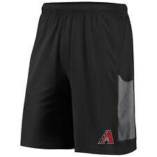 Men's Majestic Black/Gray Arizona Diamondbacks TX3 Cool Tech Shorts