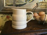 Vintage English Small White Ironstone Pottery Pitcher