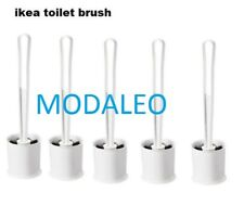 Set of 5 IKEA TACKAN White Toilet Brushes with Holders,Pack of 5 Brushes UK-N786