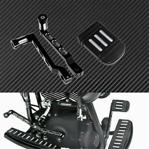 Motorcycle Heel Toe Gear Shift Lever Pes w/ Brake Pedal Fit For Harley Touring