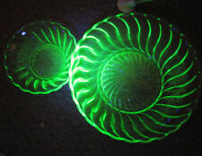 Bowl Green Art Deco (1910-1939) Date-Lined Glass