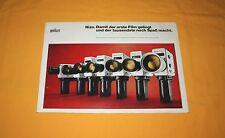 Braun Nizo 1973 Katalog Prospekt Brochure Prospetto Depliant Catalog Prospect