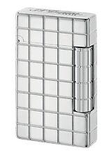 S.T. Dupont Initial Quadrate silber aus weißer Bronze Feuerzeug - 020800