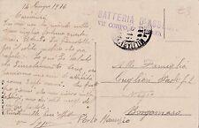 POSTA MILITARE 23 BATTERIA D'ASSEDIO VII° CORPO D'ARMATA 1916 4-104