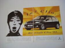 advertising Pubblicità 1992 RENAULT CLIO