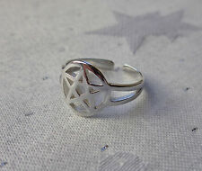 Pagan 925 Sterling Silver Pentagram Toe Ring Wicca