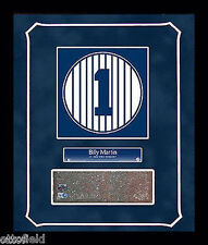 BILLY MARTIN OLD YANKEE STADIUM MONUMENT PARK #1 BRICK 14x18 FRAMED GAME USED NY