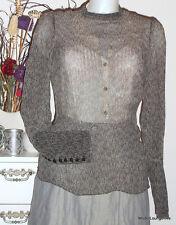 NOA NOA blouse BLUSE chiffon printed - GR. M 38 - Skiffer grau meliert - NEU