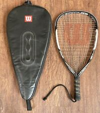 Wilson ncode nblade Power Grooves Turbo Racketball Racket W/ Case Racquetball