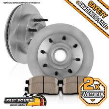 Front Brake Disc Rotors and Ceramic Pads For FORD E150 E250 E350 ECONOLINE