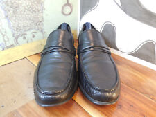 Allen Edmonds Bergamo Black Leather Loafers Men's 11D Made in Italy