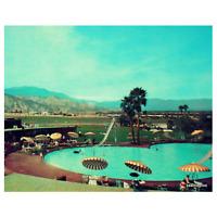 Mid Century Art Print, Palm Springs Decor, 1960's swimming pool  Modern wall art
