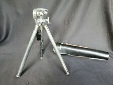 Vintage Sunset Camera Tripod In Leather Case - Nice condition - 10.5 -16 inches