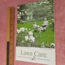 Vintage SCOTTS LAWN CARE Brochure 1962 Late Spring Summer NORTH CENTRAL-FreeSHIP