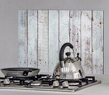 Wandsticker Klebefolie Aufkleber Spritzschutz Küche Bad Spüle Holzoptik Shabby 2