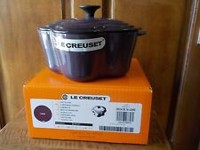 Le Creuset CASSIS (Purple)  Flower Cocotte 2.25 Qt New