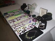 LARGE JOB LOT OF VINTAGE & COSTUME JEWELLERY NECKLACES BRACELETS EARRINGS (Z2)