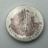 Vintage Edinburgh Castle Button Pin Pinback   K7