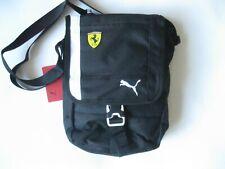 Puma Scuderia Ferrari Fanwear Portable Bag 075776 Shoulder Crossbody Flap Black