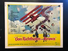 Original 1971 Von Richthofen and Brown Half Sheet Movie Poster 22 x 28 RED BARON