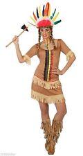 Déguisement Femme Indienne XS/S 36/38 Costume Adulte Dessin Animé Indien