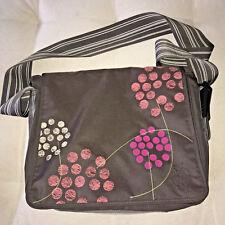 Lassig Messenger Diaper Bag Barberry Chocolate Adjustable Strap Stroller Hooks