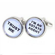 Excellent TRUST ME - I'M AN ESTATE AGENT Cufflinks BNIB