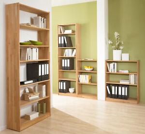 Massives Bücherragel, Wandregal, Aktenregal, Büroregal, Buche (FSC-zertifiziert)