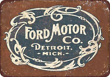 Vintage Style Ford Motor Company Reproduction Metal Tin Sign 8 x 12 USA