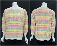 Womens Gudrun Sjoden Vintage Oversized Sweater Jumper Cotton Knit Size L