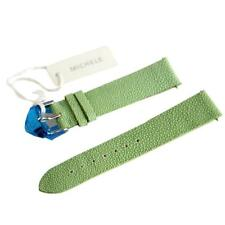 NEW Michele Deco CSX 18mm Lime Green Galuchat Watch Band Strap