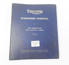 TRIUMPH 350cc 500cc TWINS TIGER T100 T90 3TA 5TA WORKSHOP MANUAL BINDER BOOK