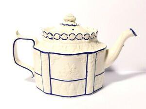 c1800 Castleford Teapot Feldspathic Stoneware Classic Design Sliding Lid a/f