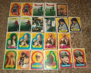 Goonies Topps 1985 Sticker (22) Card Complete Set 1-18 With Variants Mint Rare
